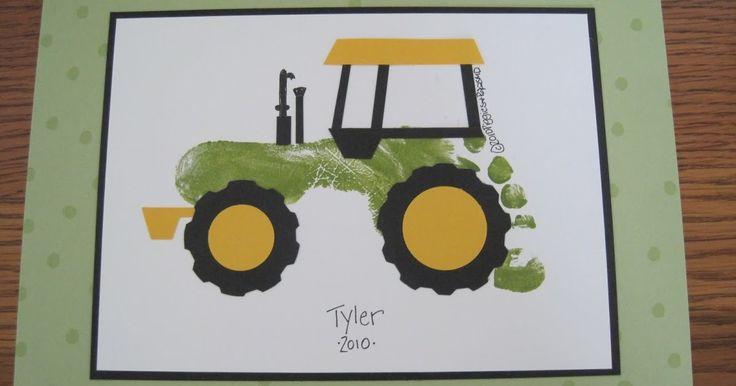 Открытка трактор своими руками