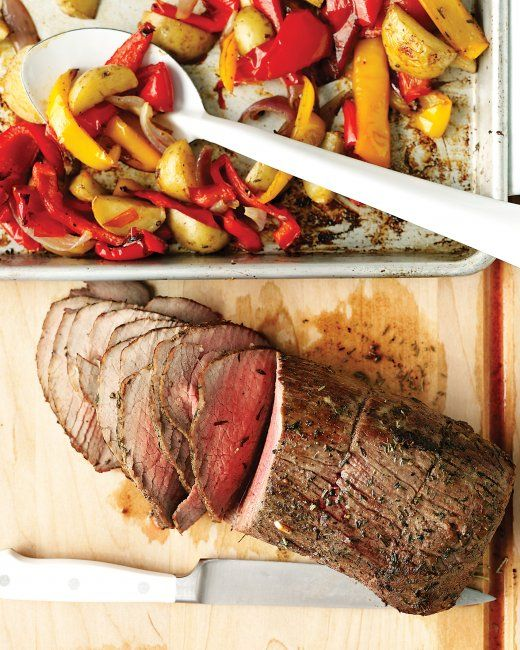 Roast Beef with Peppers, Onions, and Potatoes | Recipe