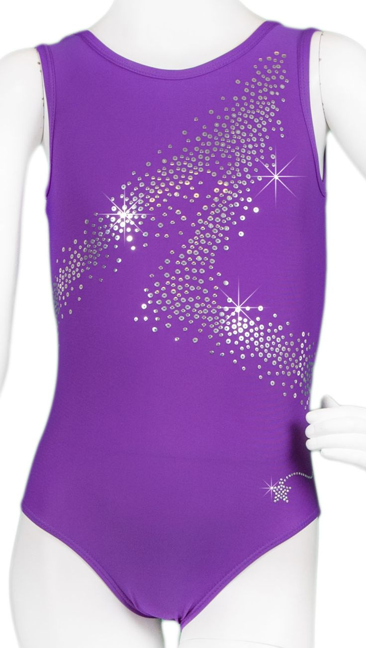 Purple Sequin Zee Leotard