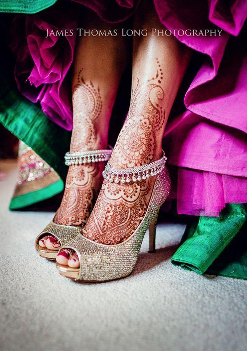 Henna designs for the feet. Bridal henna