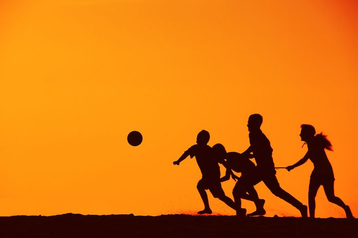 SOCCER IN SILHUETTE