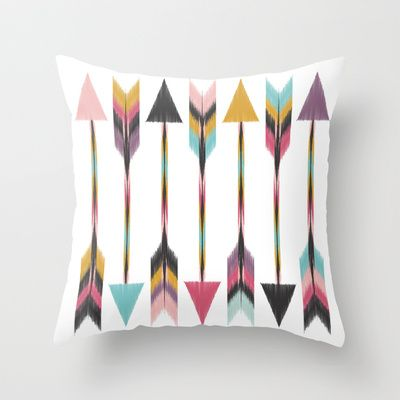 Bohemian Arrows Throw Pillow by Bohemian Gypsy Jane - $20.00