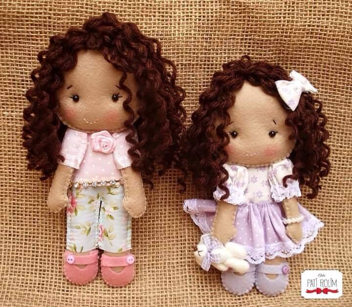Curly hair dolls