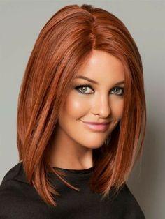ides coiffures pour cheveux mi longs couleur splendide - Coloration Chatain Acajou Cuivr