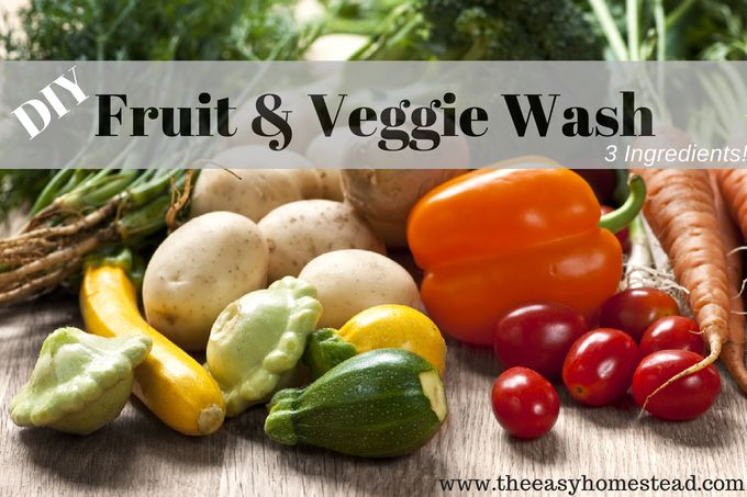 I have gotten a few emails asking how and what I use to wash my veggies here on the homestead. Here is a simple DIY fruit and veggie wash...