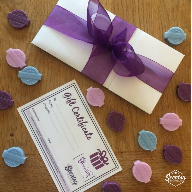 Scentsy makes the perfect Gift...but maybe you don't know what to actually buy! Get A Gift Voucher.  Available in all denominations and send either to you or directly to the recipient...Gift Sorted!