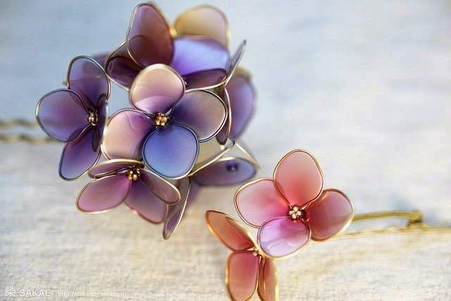 Bellart Atelier: Faça você mesmo: Flores com arame e esmalte de unha.