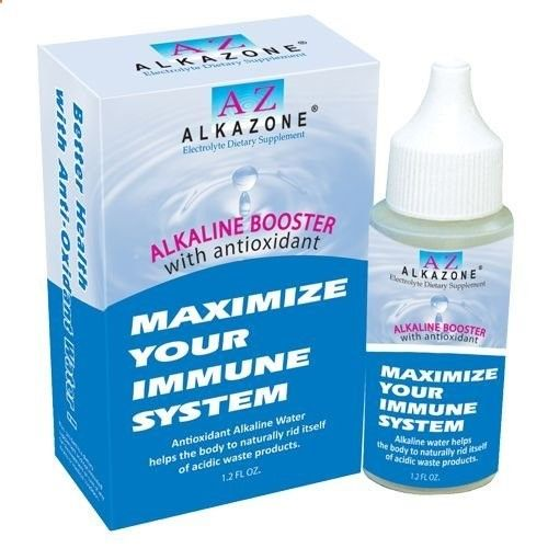 Alkazone Ph Booster Supplement (6 Count) 1.20 Ounces by Alkazone. $19.99. Alkaline Booster with Selenium (6-Pack Special)Alkaline Booster with Antioxidant now ! Drink your minerals! The easiest way to alkalize your diet! Feel the benefits for yourself. Alkaline water provides the minerals the body needs to buffer excess acidity from the metabolism of food.You will feel the difference. Tea and coffee tastes better too!pH balance, a key to healthy livingIt is up to you...