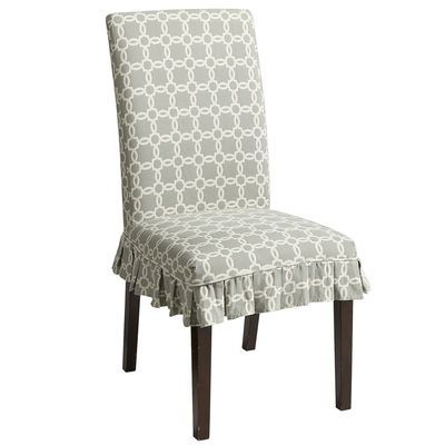 pier1 dana slipcover blue geometric dining rooms pinterest chair slipcovers chairs. Black Bedroom Furniture Sets. Home Design Ideas