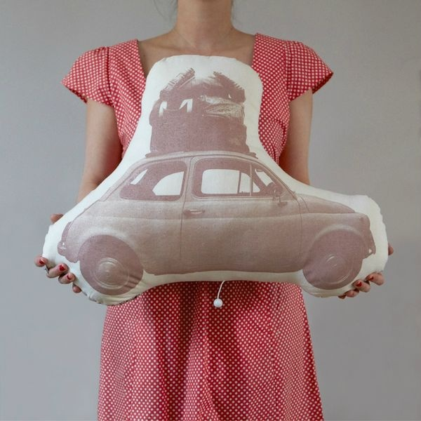 Coussin musical Fiat 500 - Ma Mamie Hippie