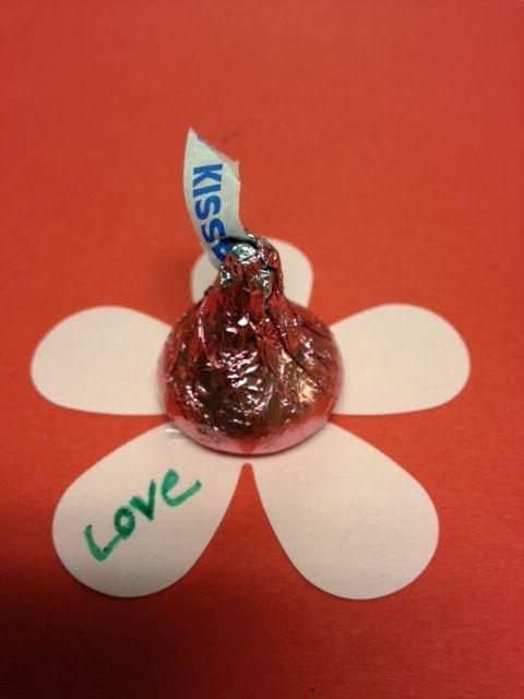 Hershey's Kisses Flower Valentines