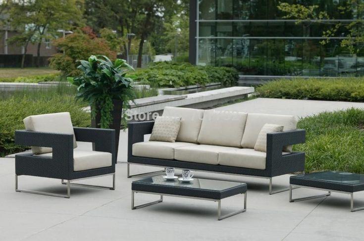 2017 All weather outdoor furniture garden Patio rattan sofa set #GardenPatio