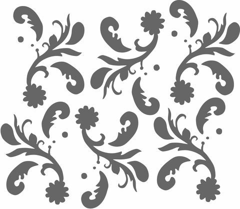 "From Alabama Studio Sewing + Design, this stencil, laser-cut in 10 mil Mylar measures 27 1/2"" x 30 1/2"" with the image size 21 1/2"" x 25 1/2"".  These are the same stencils that we use in our studio and are extremely durable and long lasting. Or click here to download Paisley stencil graphics."