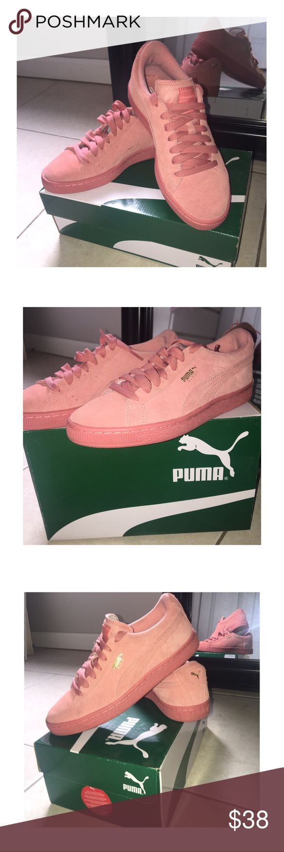 "🌸🌸DESERT FLOWER PUMAS!!!!! 🌸🌸SUPER CUTE ""DESERT FLOWER"" SUEDE PUMAS!!!!! SELLING BC I DONT WEAR THEM SO WHY KEEP THEM? WORN MAYBE 3-4 TIMES. THEY STILL EVEN SMELL LIKE NEW SHOES! GREAT FOR BACK TO SCHOOL ON A BUDGET OR TO TURN HEADS WITH ANY OUTFIT! 9/10 CONDITION . . . #shoes #pink #puma #comfy #cute #dope #style #fashion #stylish #backtoschool #school #budget #budgetfriendly #women #outwear #accessories #different #sneakers #trainers #feet #socks Puma Shoes Sneakers"