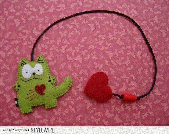 Punto de libro gato/corazon