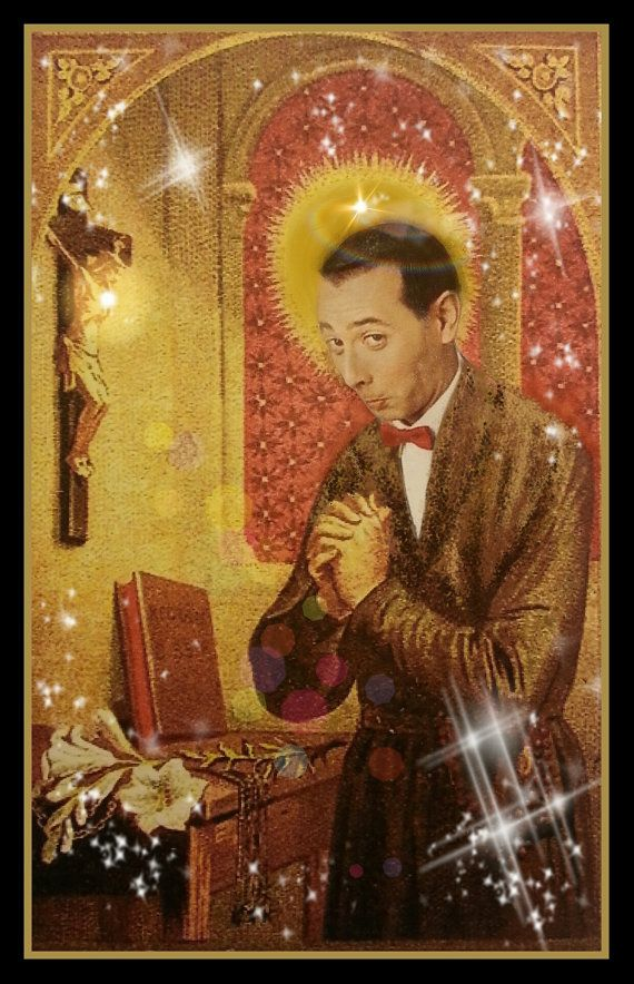 pee wee herman prayer candle by KitschupCreations on Etsy