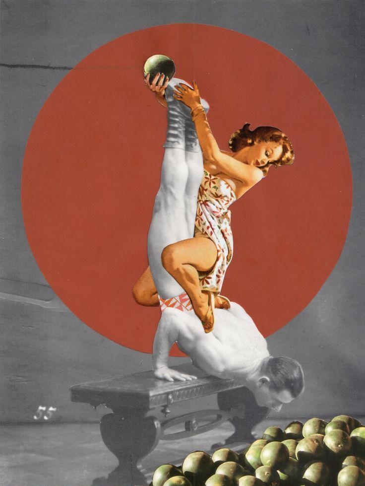 "Collaboration-Collage with Lynn Skordal 18/2013 ""55 Melons"" Lynn Skordal: http://regularpaper.blogspot.de/ Sabine Remy: http://miriskum.de/"