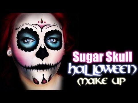 ▶ Sugar Skull HALLOWEEN Tutorial - YouTube