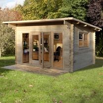 4 x 3m romanee 44mm log cabin