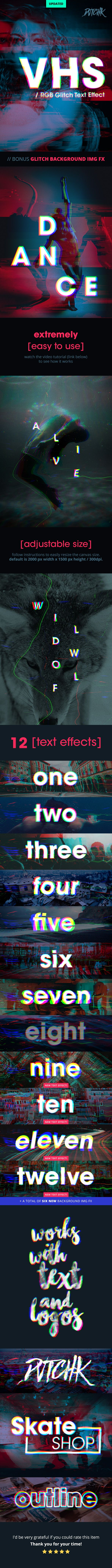 #VHS - RGB Glitch Text #Effect - Text Effects #Actions Download here: https://graphicriver.net/item/vhs-rgb-glitch-text-effect/13543495?ref=alena994