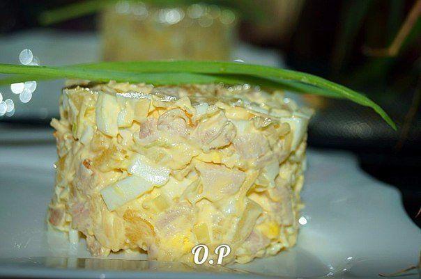 Приготовлю на праздник! Ингредиенты: копчёная курица — 400 гр ананасы консервированные — 200 гр сыр — 50 гр яйца — 4 шт репчатый лук — 1 шт соль- по вкусу майонез — для заправки Приготовление: Отделяем от костей копчёную курицу и нарезаем маленькими кусочками. Яйца, сваренные вкрутую нарезаем маленькими кубиками. Лук нарезаем мелко и заливаем […]