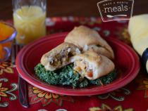 This freezer recipe for Creamy Chicken Pockets makes an easy, low-calorie meal. With crisp outsides and creamy filling, this recipe is a real crowd-pleaser!