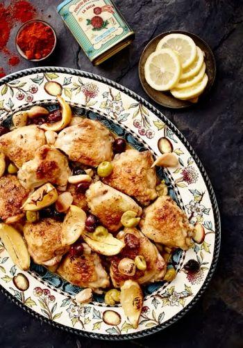 Spanish Chicken with Smoked Paprika, Lemon & Olives recipe on www.nomu.co.za