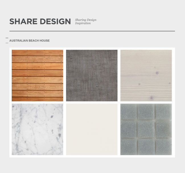 Share Design Palette Australian Beach House