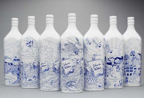 Johnnie Walker in Porcelain Bottles - by creative agency LOVE