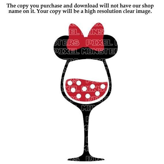12+ Minnie mouse wine glass ideas in 2021