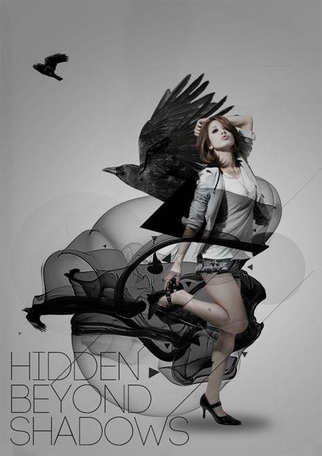 Hidden Beyond Shadows by Chris Mead, via Behance #poster #graphisme
