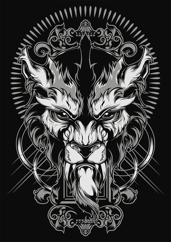 Lycanthrope Illustration by Shulyak Brothers , via Behance: