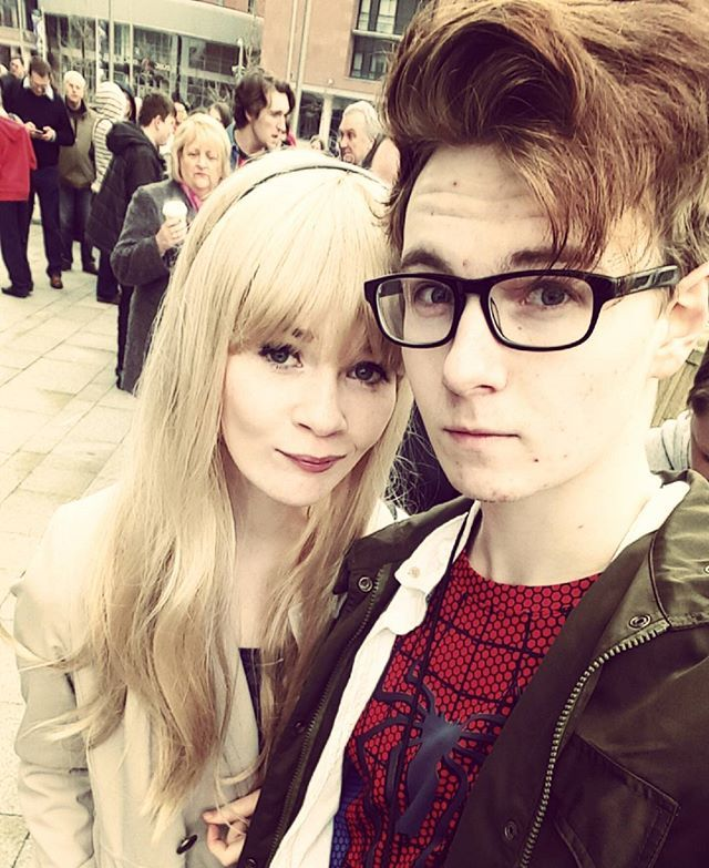 Pin for Later: 60 Costume Ideas For Couples Who Love to Geek Out Together Gwen Stacy and Spider-Man