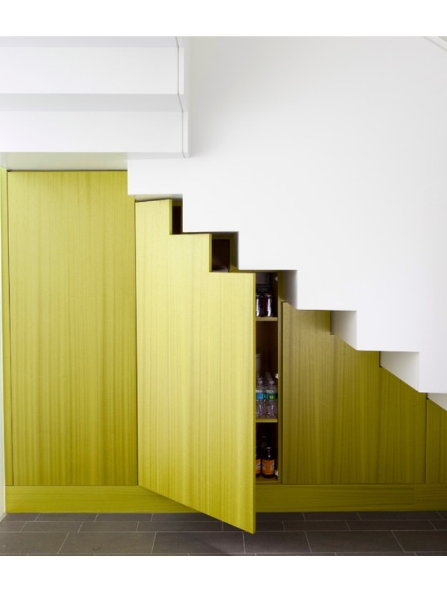 If you have space under your stairs, build a cupboard underneath for heaps of storage in a wasted space.