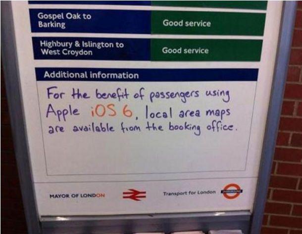 Quand le métro Londres trolle Apple Maps