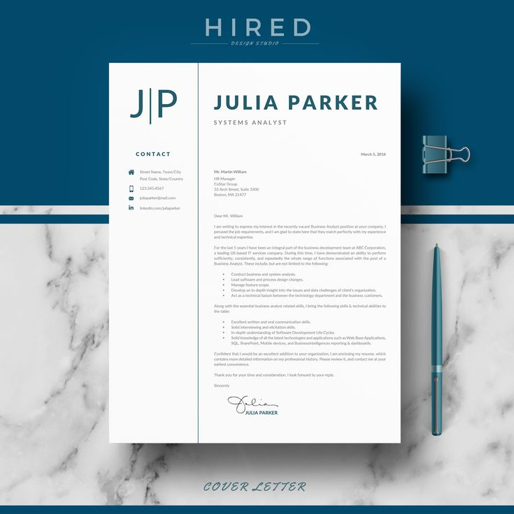 Professional Resume, CV Templates For MS Word & Pages