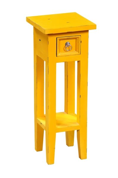 Stolik nocny drewno mahoń żółty ORKNEY, Miloo Home - Meble