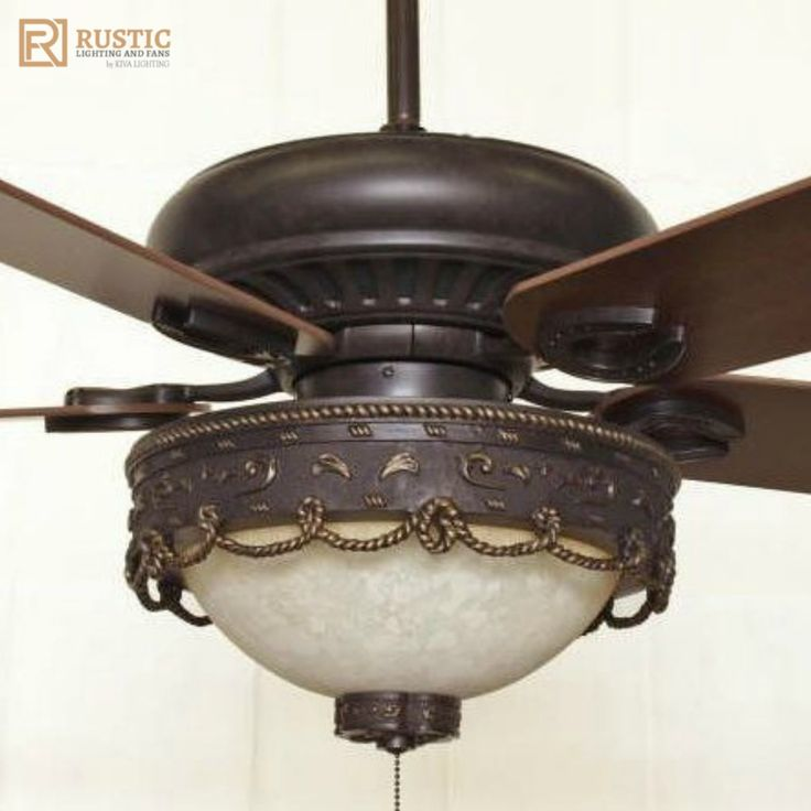 Rustic lighting and fans sandia western victorian style ceiling fan