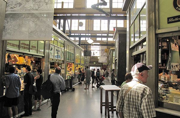 In the Victoria Market buildings in downtown Melbourne