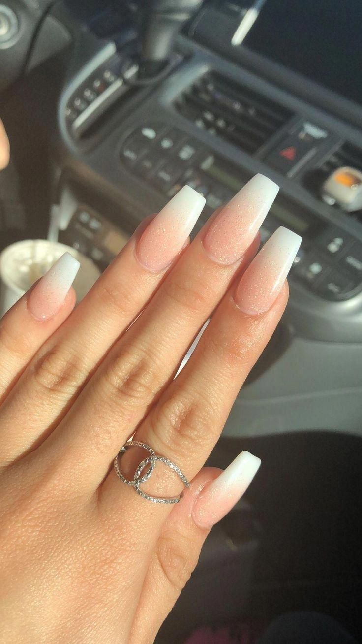 65 The Unique French Ombre Acrylic Coffin Nails Are Amazing 4