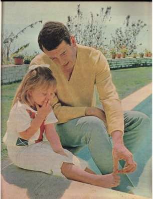 Rock Hudson in Photoplay Magazine September 1966. From the Rock Hudson Project