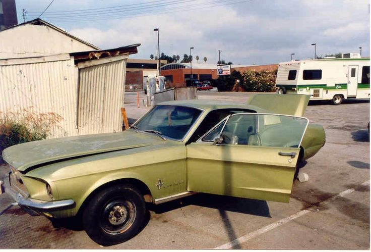 67 Ford Mustang as found in 1985