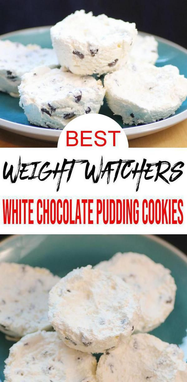 3 Ingredient Weight Watchers White Chocolate Pudding Ice Cream Cookies – The BEST Weight Watchers Flourless Cookies {Easy – No Bake}
