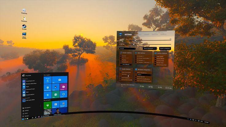 Virtual Desktop, A 3D Computer Desktop Environment for Oculus Rift and HTC Vive