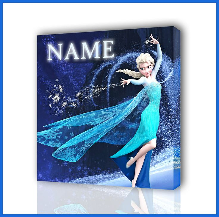 PERSONALISED DISNEYS ELSA / FROZEN CANVAS PICTURE PHOTO PRINT BOX FRAMED CANVAS