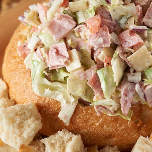 Hoagie Dip in a Bread Bowl
