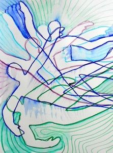Moving figures inspired by Futurism