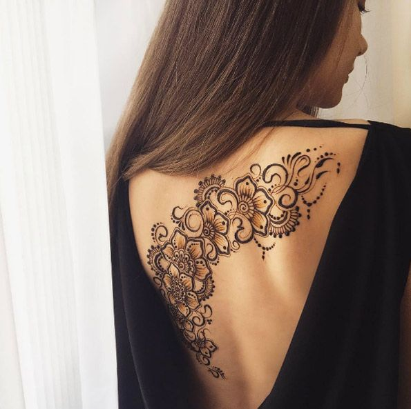 Beautiful henna back piece by Anna