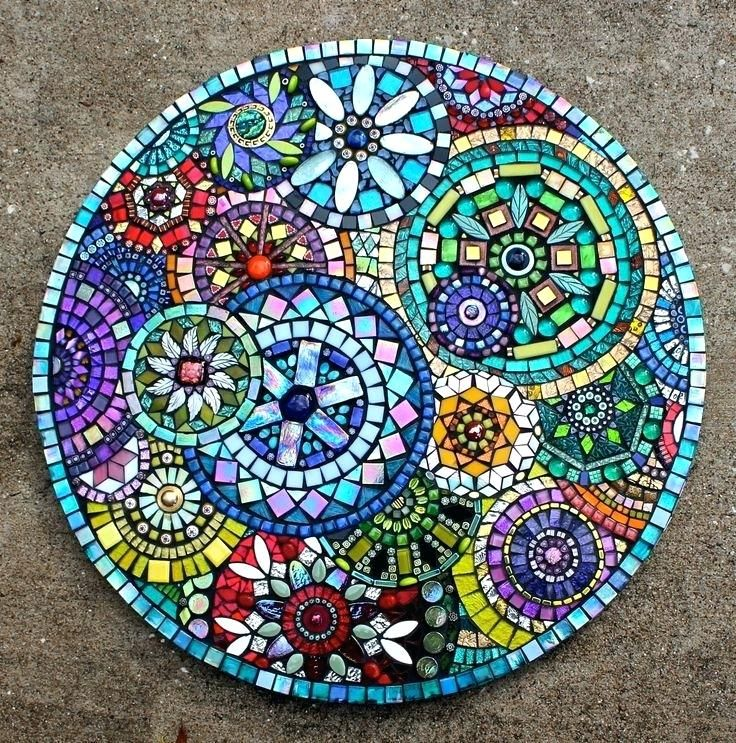 Full Size Of Decorating Blue Mosaic Outdoor Table Tile