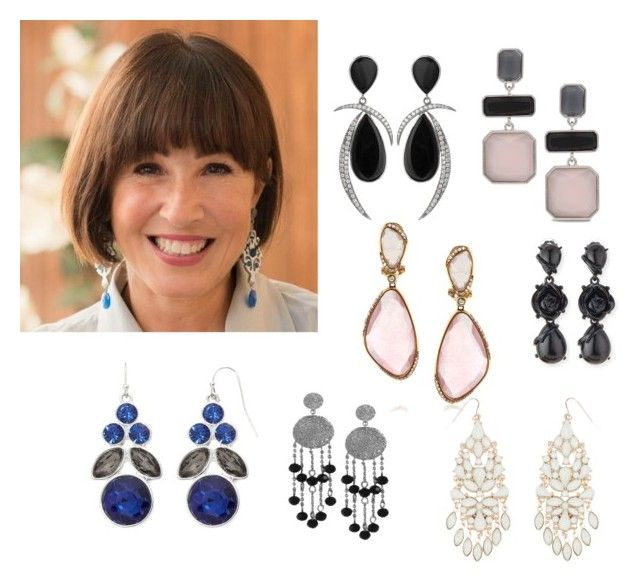 Large earrings by stefania-fornoni on Polyvore featuring polyvore, fashion, style, Oscar de la Renta, Liz Claiborne, Mark Broumand, Chico's, Accessorize and Karen Kane